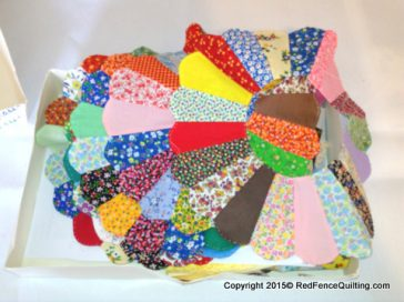 Dresden Quilt circles or flowers with 20 pieces