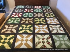 For Sale: Fall Colors Quilt – 52 x 78.5 inches