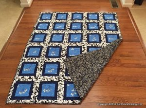 For Sale : Flowers Quilt – 50 x 60 inches
